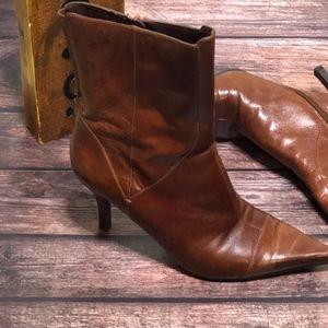 Nine West Nanteo Ankle Brown Stiletto Heel Boots~8